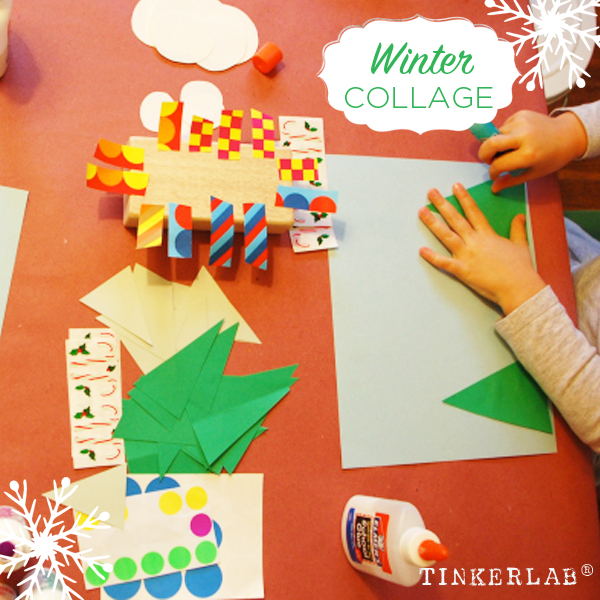 Winter Collage for Kids | TinkerLab