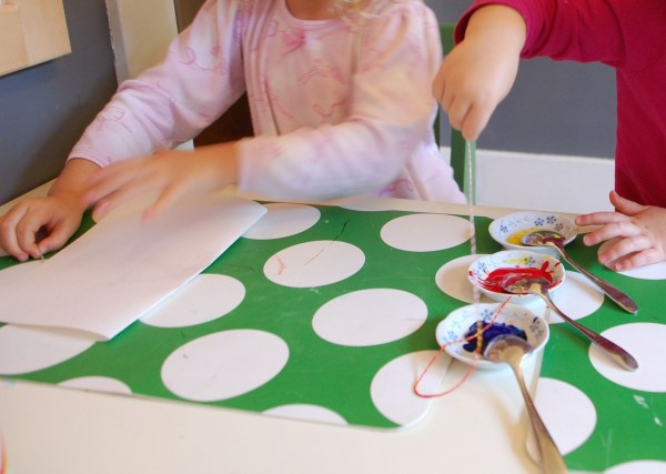 easy string art painting experiment with kids - Painting Pics For Kids