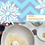 Snow Cream with Eggnog. So easy and delicious.