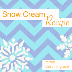 Snow Cream recipe with snow and eggnog. Delicious!