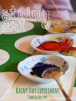 Easy String Art Painting with Kids