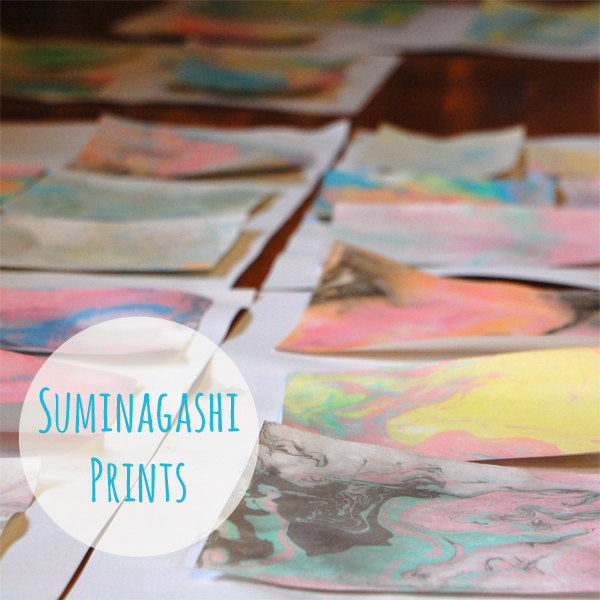 Marbled Paper with Suminagashi