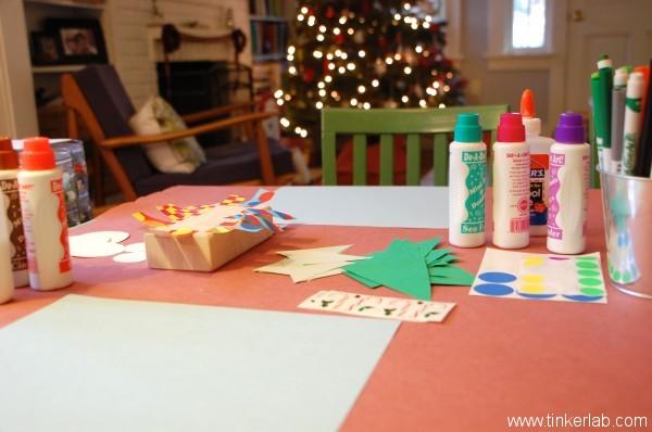 Winter craft collage invitaiton, Tinkerlab.com