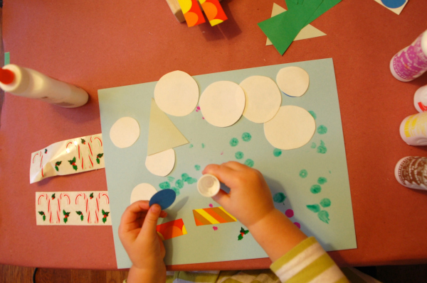 Winter Craft Collage Invitaiton Tinkerlab