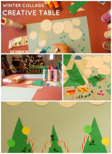 Kids Winter Craft: Winter Collage