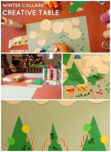 Kids Winter Craft: Winter Collage