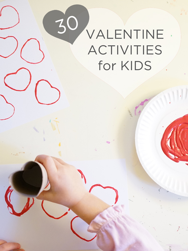 30 simple, cool, and fun Valentine Activities for Kids | TinkerLab.com