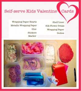 How to set up a self-serve Kids Valentine Card Station