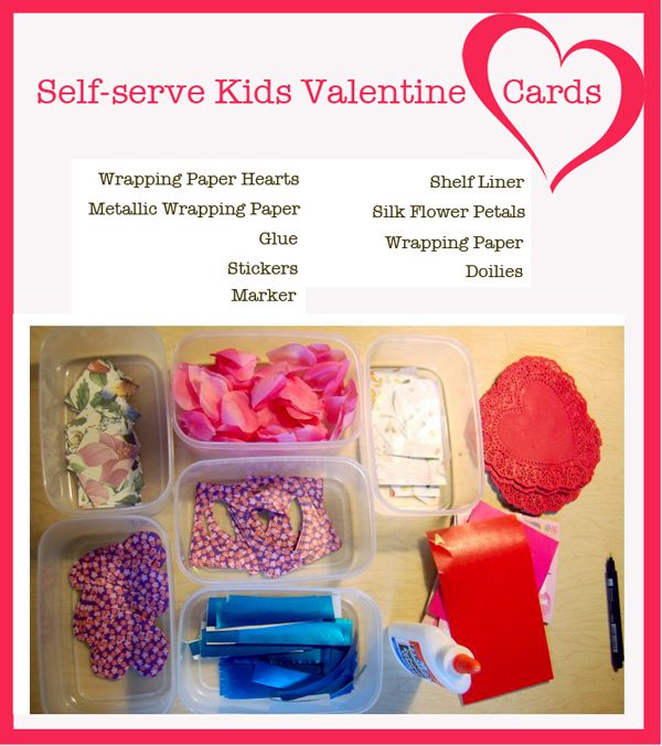 Kids Valentine Ideas How To Set Up A Self Serve Card Station