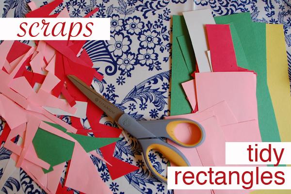 Art Tips: Chop Scraps into Tidy Rectangles