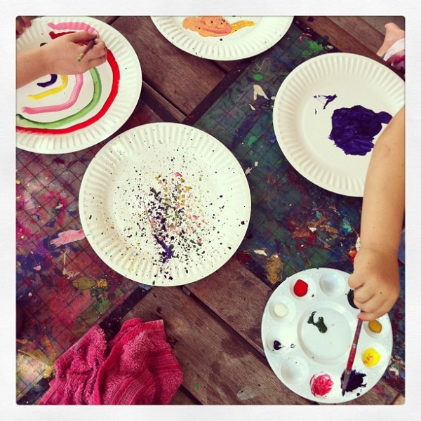Creative Table Project: Paint on paper plates