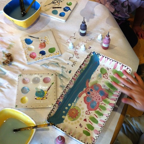 Paint your own pottery shop from the Tinkerlab Creative Table Project