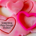 Kids Valentines Ideas | Valentine Play dough Station