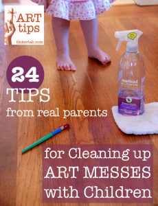 24 tips from real parents for cleaning up art messes with children