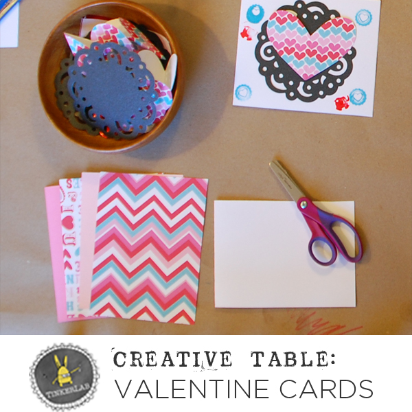 Creative Table: Make your own Valentine's Day Cards | TinekerLab.com