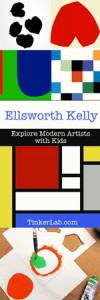 Explore modern artists with kids: Ellsworth Kelly