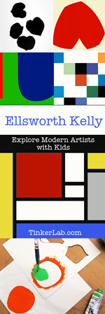 Explore modern artists with kids: Ellsworth Kelly