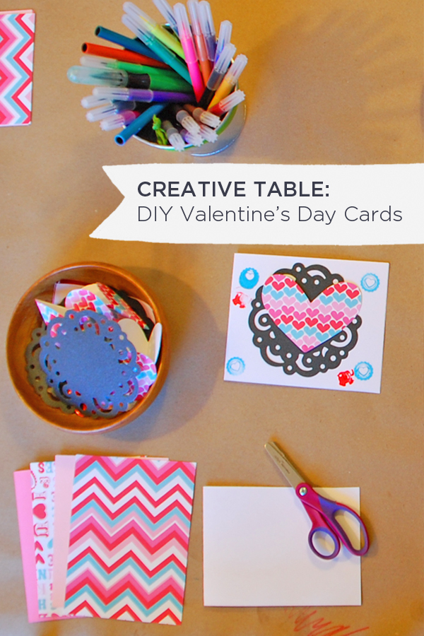 Creative Table: Valentine's Day Cards  | Tinkerlab.com
