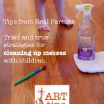 Art Tips: Real Parents share how to clean up messes with children
