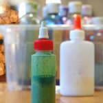 Paint with glue, and how to make your own colored glue