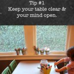 Creative Table Project: Keep your table clear and your mind open