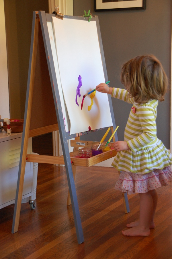 easel painting indoors