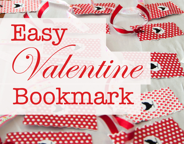 Easy Valentine Bookmark | Tinkerlab