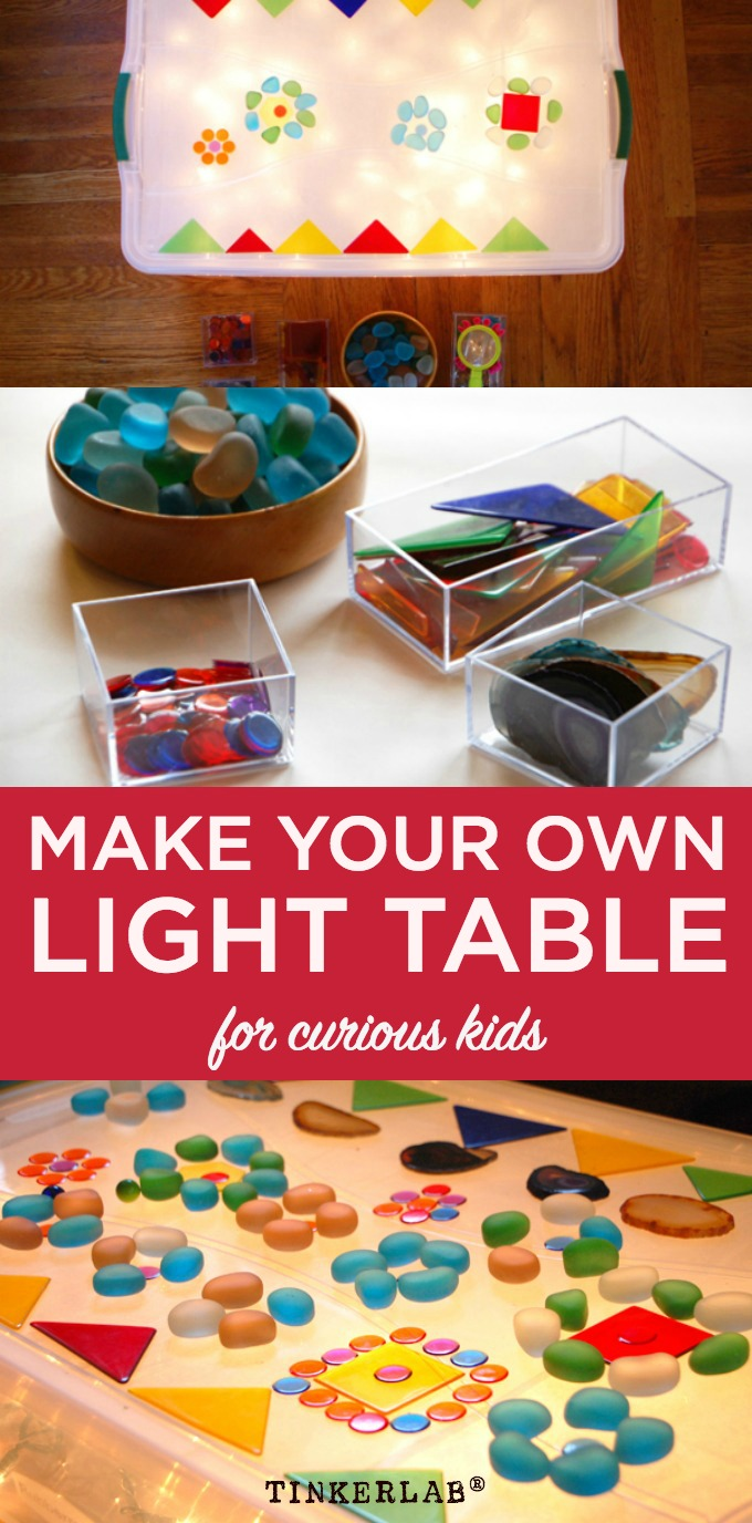 Dead simple. How to make your own (easy) light table for curious and creative kids.
