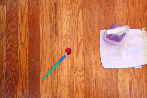 paint on the floor