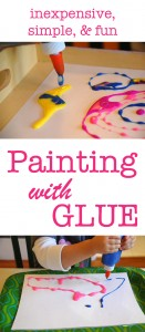 How to color and paint with glue | Tinkerlab