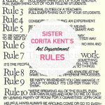 Sister Corita Kent | Art Department Rules