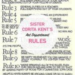 Sister Corita Kent   Art Department Rules
