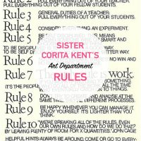 Art Department Rules from Sister Corita Kent
