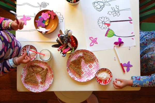 Evolution of the Art Table: See how a child's craft table changes over the course of a week.