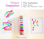 Creative Table: A Sticker Composition with Frames