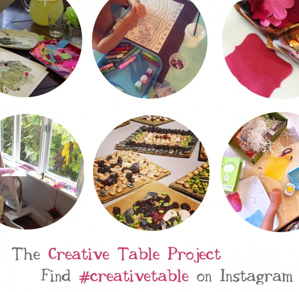 Endless ideas for crafts, art-making, science experiments, and creative explorations on the creative table project from Tinkerlab, via Instagram.