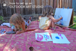 Seven Tips for Setting up an Impromptu Garden Art Studio