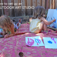 These are great ideas! 7 tips for setting up an impromptu outdoor art studio for kids.
