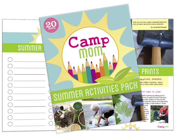 Camp Mom SummerActivities Pack. 84 pages filled with over 45 activities that have you covered for nature discovery, water play, and art exploration.