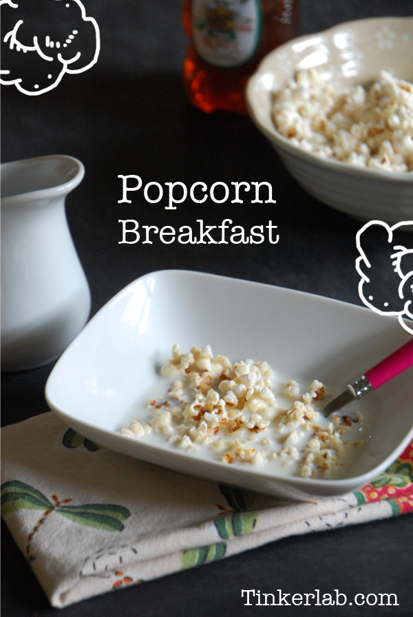 How to make Popcorn Cereal: Teach your kids about colonial times with this special popcorn cereal recipe from Tinkerlab