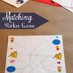 Simple Matching Sticker Game