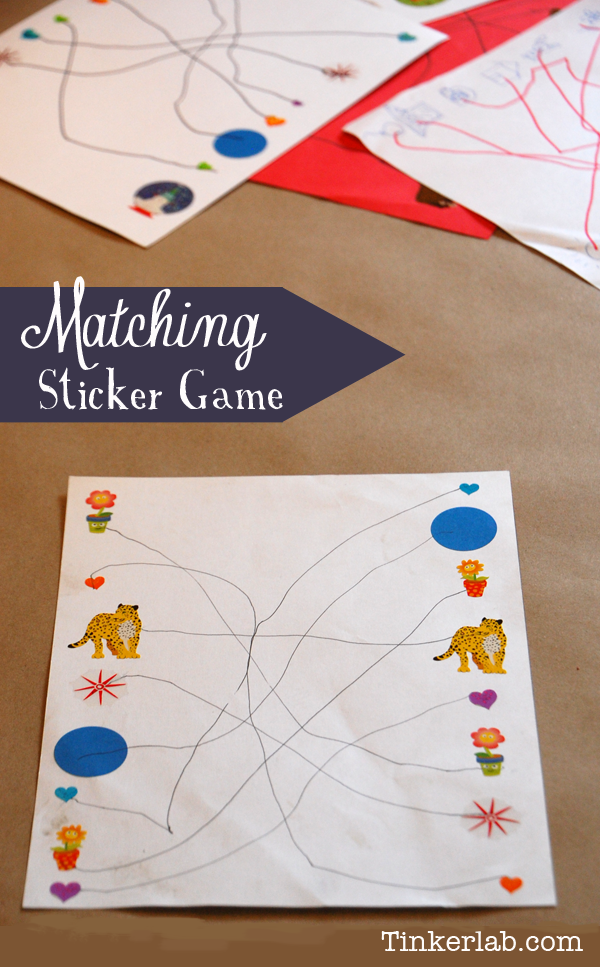Simple matching sticker game tinkerlab matching sticker game from tinkerlab ccuart Gallery