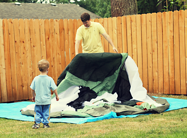 Backyard Camping | Modern Parents Messy Kids