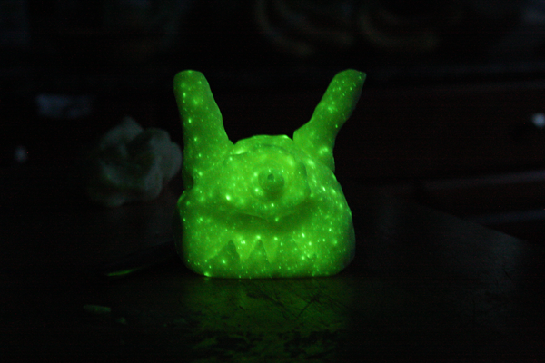 glow playdough character