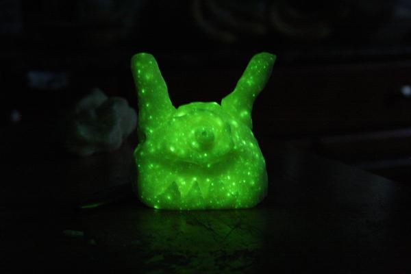 glow playdough character