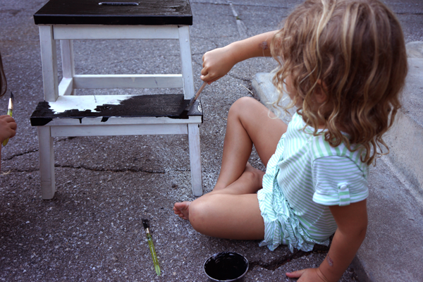 How painting furniture builds happier kids | Tinkerlab