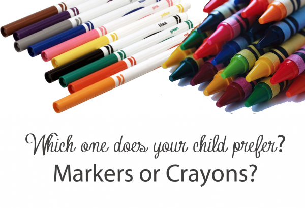 markers or crayons