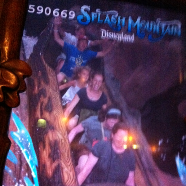 Screaming on Splash Mountain Disneyland