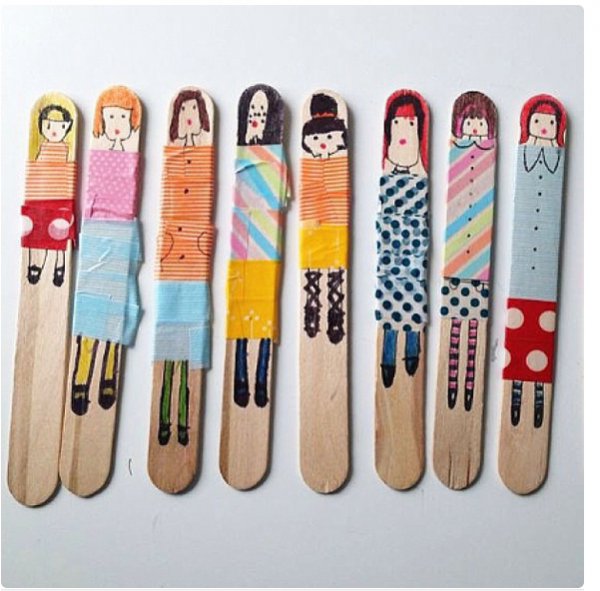 Craft Stick People from Molly Moo