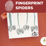 Fingerprint Spiders for Halloween